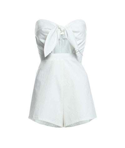 Sweetheart Bow Romper White