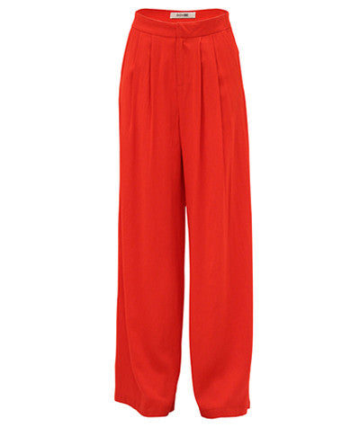 Front Pleated Palazzo Pants