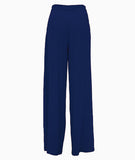 Front Pleated Palazzo Pants Blue