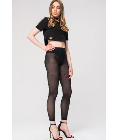 Sheer Gem Leggings