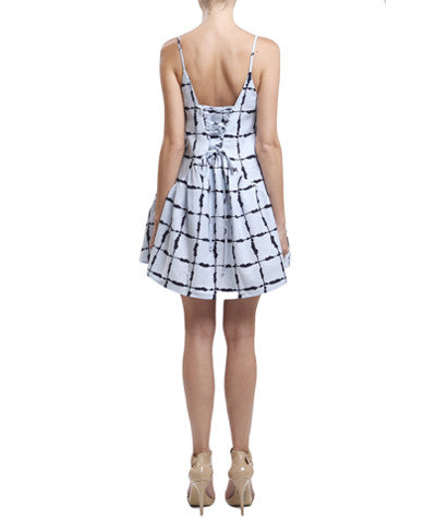 Grid Flounce Dress