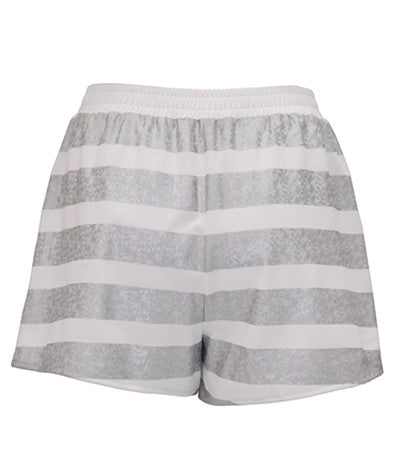 Hologram Striped Shorts