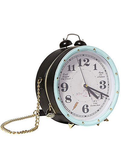 "Betsey Johnson ""Kitchi Alarm Clock Crossbody"""