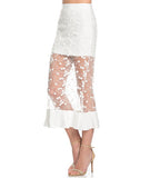 Lace Mermaid Midi Skirt