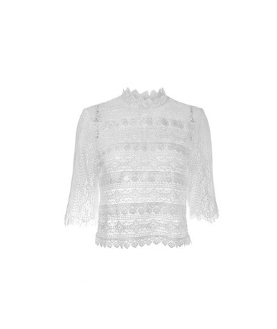 Victorian Lace Top White