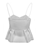 Lois Pleated Top White