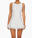 Mesh Baby Doll Dress White