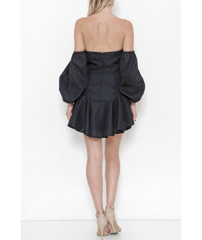 Ruffled Strapless Mini