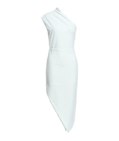 Asymmetric Dress White