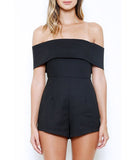 Off the Shoulder Romper Black