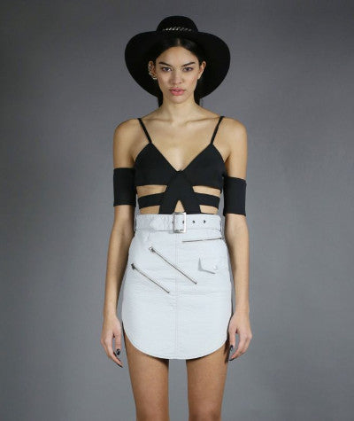 Outlaw Mini Skirt Grey