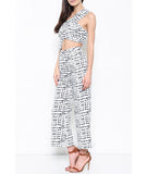 Geometric Patterned Crop and Pants Set