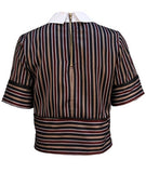 Carnegie Striped Crop Top