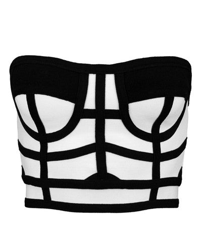 RZRX Crop Top Black/White