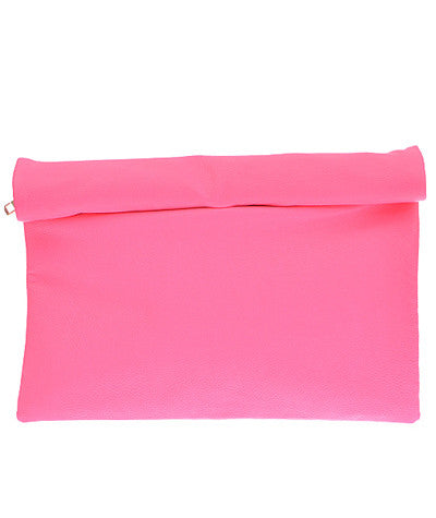 Rollup Clutch Hot Pink