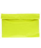 Rollup Clutch Neon Yellow