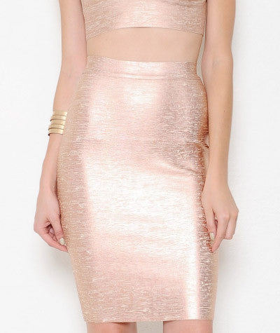 Rose Gold Bandage Skirt