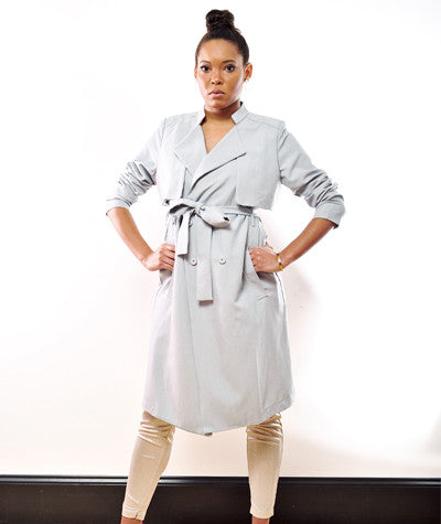 Sky Blue Trench Coat