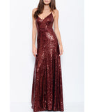 Sequin Backless Maxi Dress