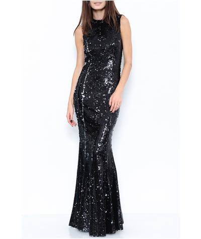 Sequined Mermaid Maxi Dress