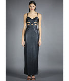 Shearer Maxi Dress Black Snakeskin