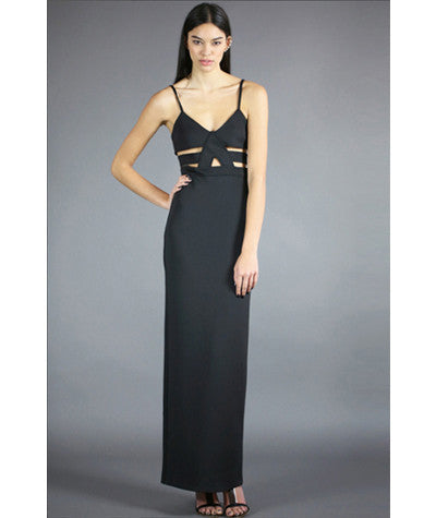 Shearer Maxi Dress Black Scuba