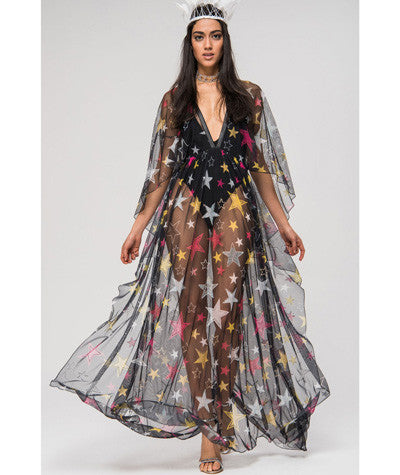 Sheer Star Dress