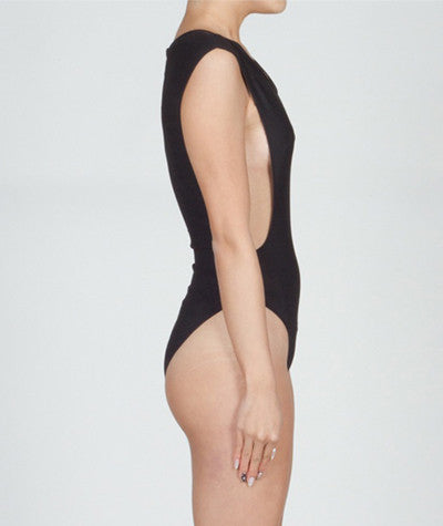 Ribbed Bodysuit Black