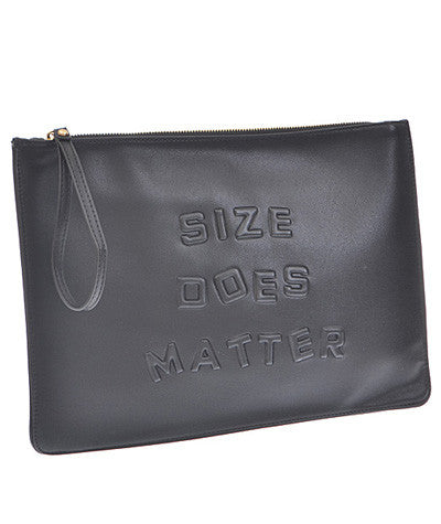 Size Matters Clutch Black