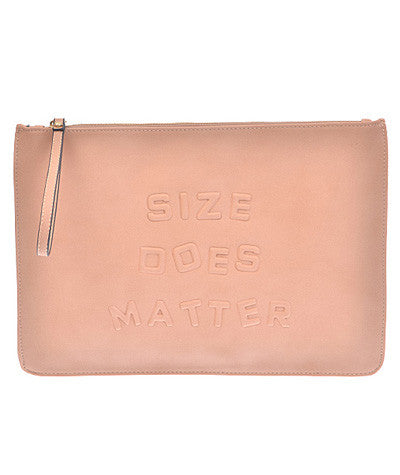 Size Matters Clutch Nude