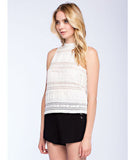 Sleeveless Lace Shell