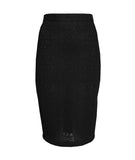 Spongy Lace Pencil Skirt