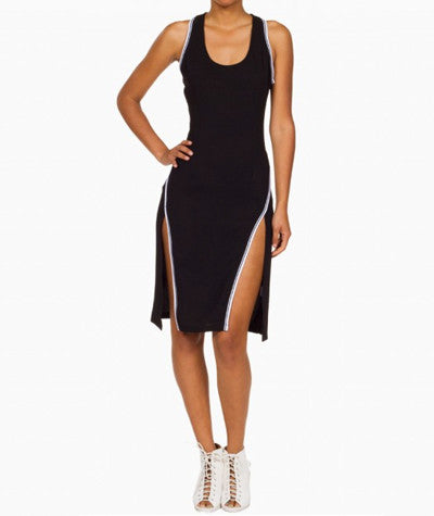 Sporty Midi Dress Black