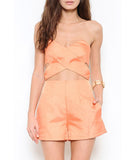 Strapless Cut Out Romper