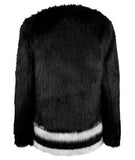 V Design Faux Fur Jacket