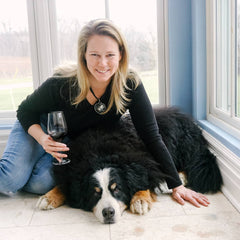 photo of Sue-Ann Staff and Brix the Bernese Mountain Dog