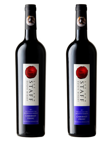 2017 Cabernet Franc Duo -- Brandied Barrel and Bourboned Barrel Chestnut Tree Cabernet Franc