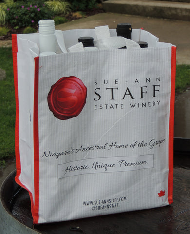Sue-Ann Staff Branded Six-Bottle Tote Bag