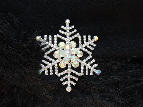 Fancy Farm Girl Bling: Snowflake Pin GREAT GIFT