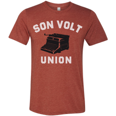 SON VOLT - Men's Red Union Typewriter T-shirt