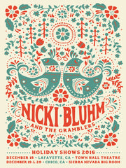 Nicki Bluhm & The Gramblers Holiday Shows - December 2016 Poster