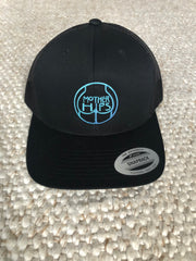 Mother Hips Black Aqua Logo Trucker Hat