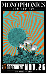 Monophonics - The Independent, SF November 26, 2016 Poster
