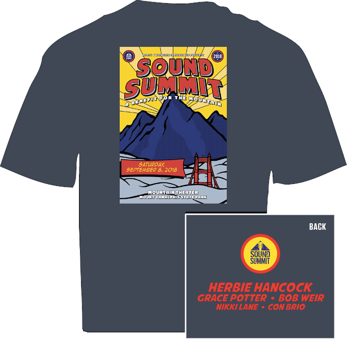 Sound Summit 2018 Heather Navy Men's T-Shirt