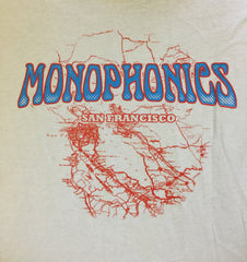 Monophonics San Francisco Map (Grey) T-shirt