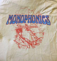 Monophonics San Francisco Map (Tan) T-shirt