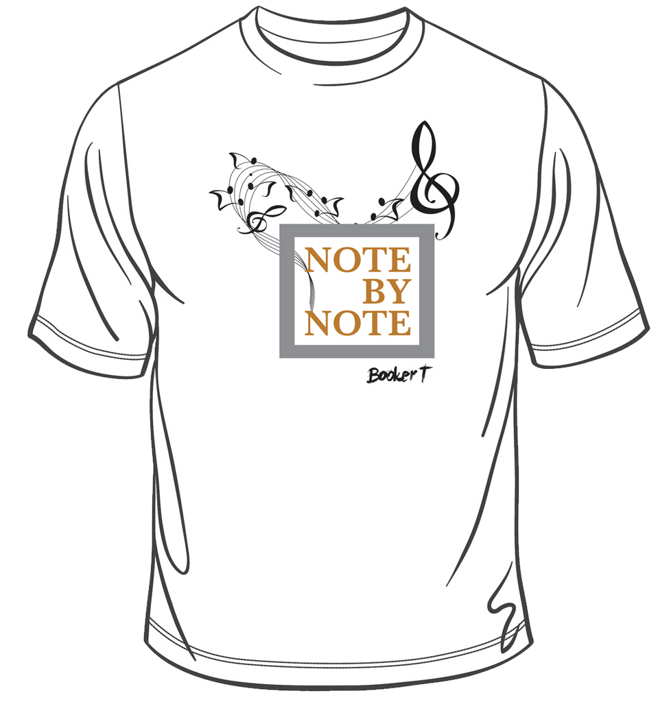 Booker T - Note By Note T-Shirt (White)