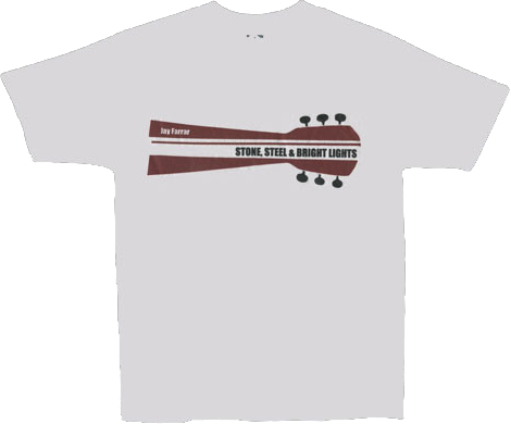 JAY FARRAR - Red Stone, Steel and Bright Lights T-shirt
