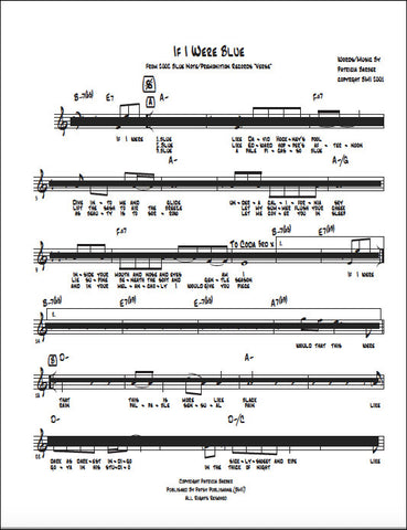 "Patricia Barber ""If I Were Blue"" Sheet Music DIGITAL"