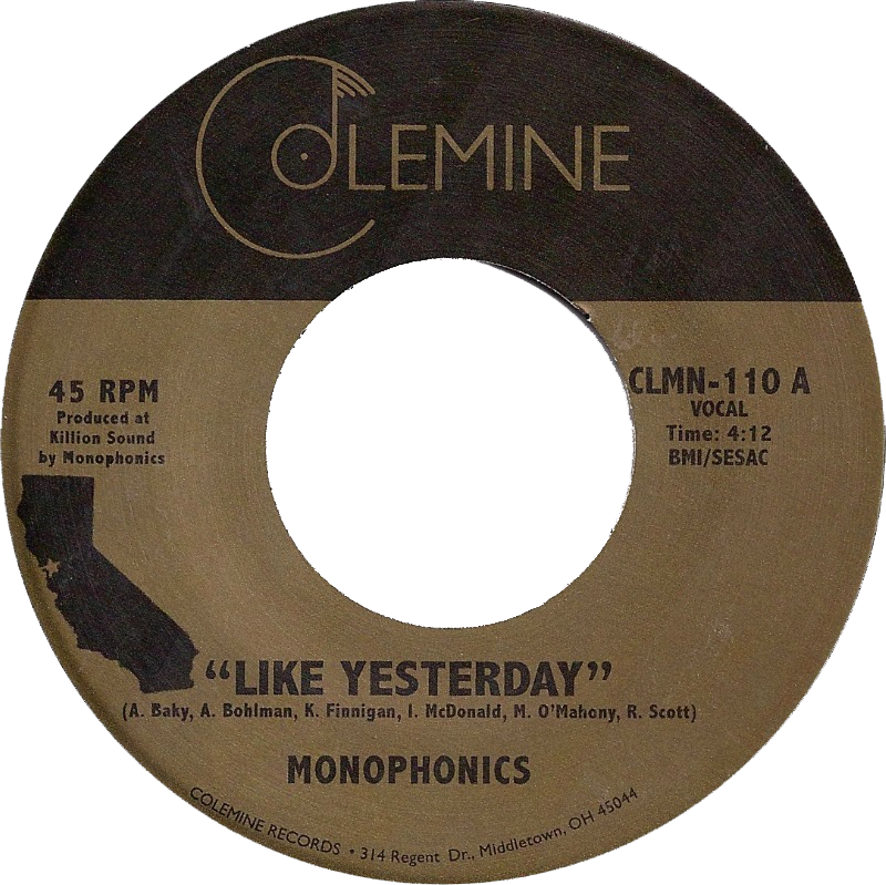 "Monophonics - ""Like Yesterday"" / Destruments ""Freedom"" Split 7-inch VINYL"